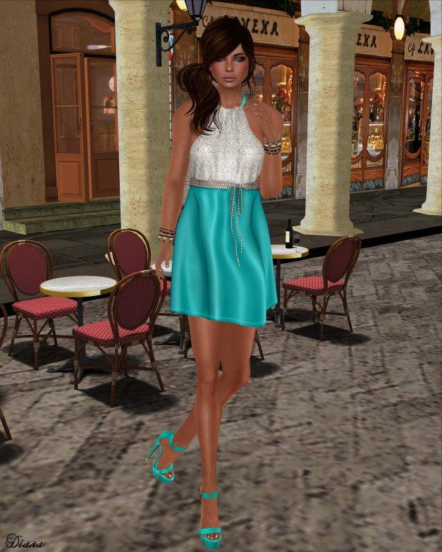 GizzA - Erika Halterneck Dress Brodeire