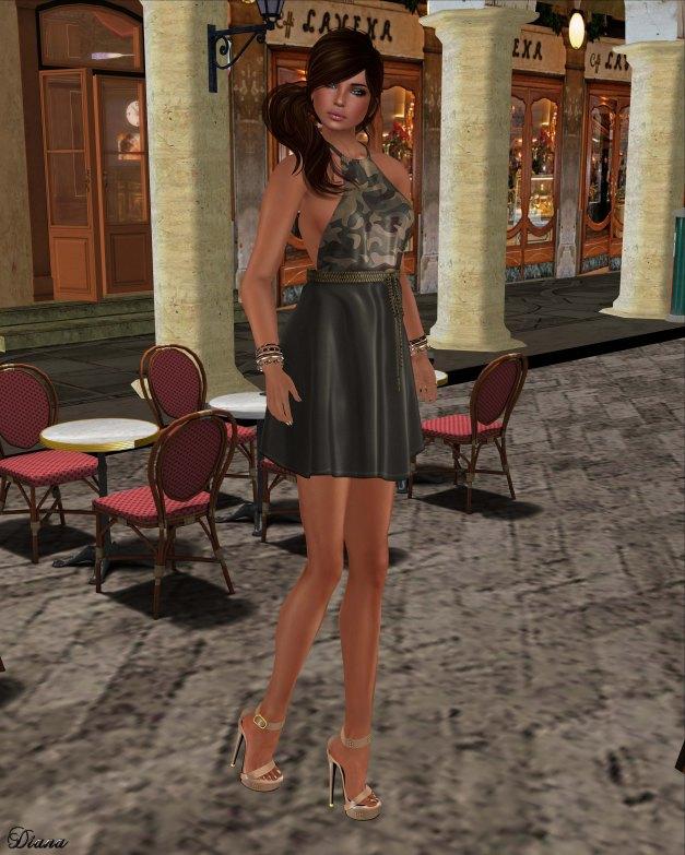 GizzA - Erika Halterneck Dress Camo