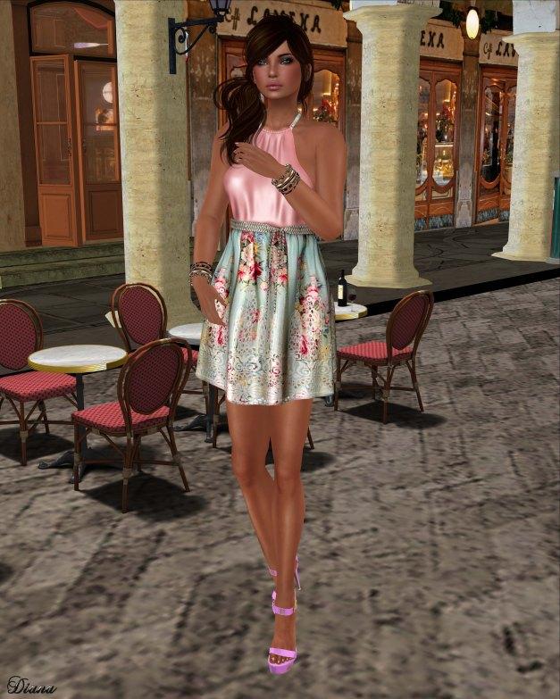 GizzA - Erika Halterneck Dress Floral