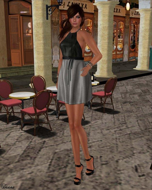 GizzA - Erika Halterneck Dress Leather