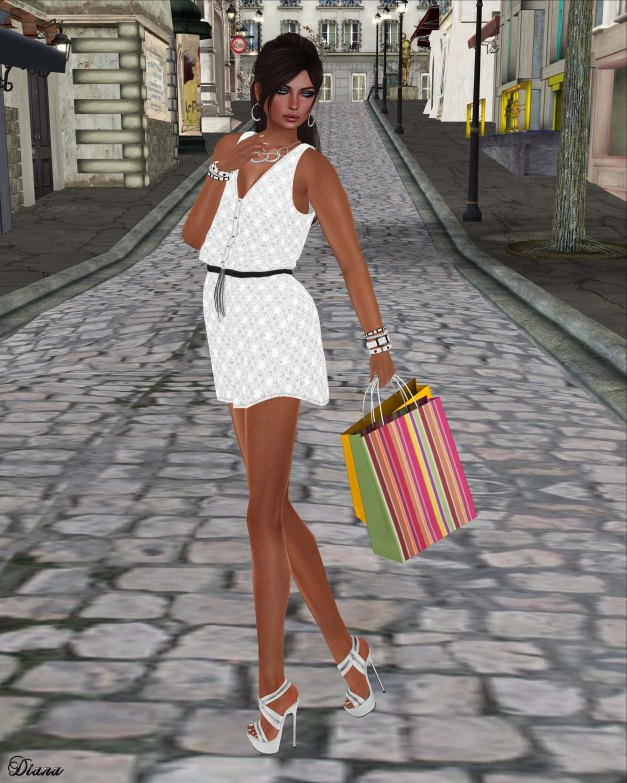 LMD - Loren Dress Monochromatic
