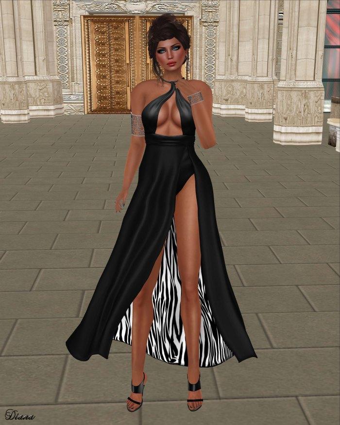 Baiastice - Petal Dress Black