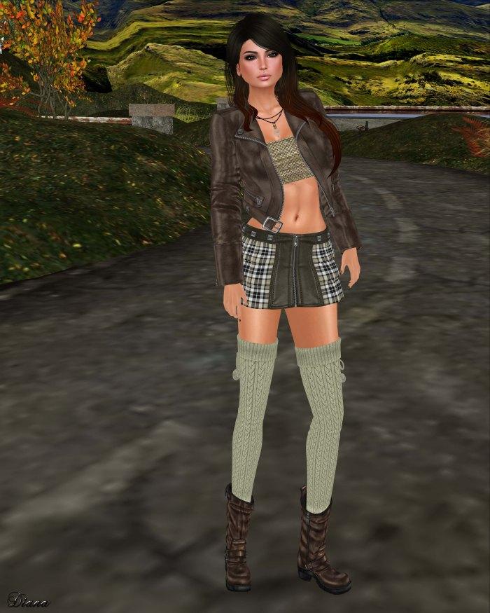 Lapointe & Bastchild - Swear Candy Zipp Mini Skirt-Tartans-2