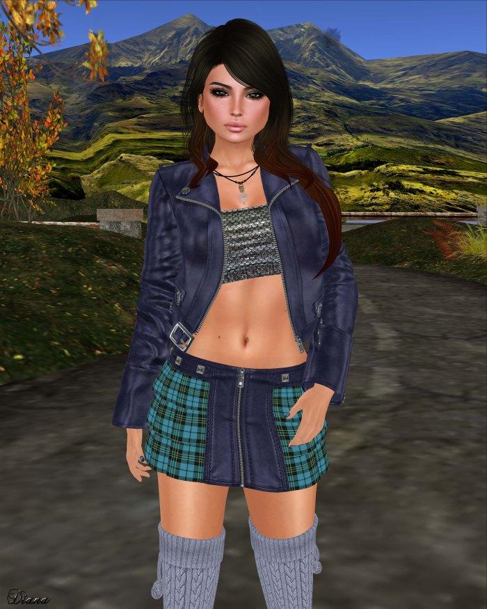 Lapointe & Bastchild - Swear Candy Zipp Mini Skirt-Tartans-4