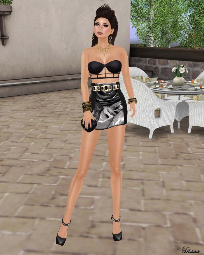 Baiastice - Caged Top black and Ives Skirt black