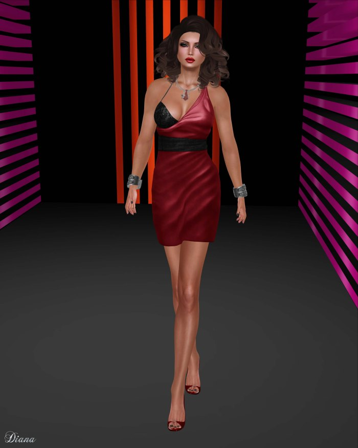 Baiastice - Elena Dress-red