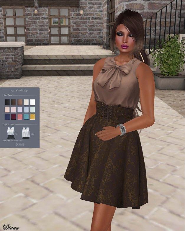 G Field - Mesh Sleeveless Top and Mesh High Waist Skirt Annis-1