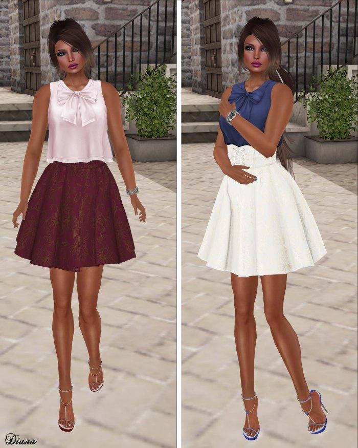 G Field - Mesh Sleeveless Top and Mesh High Waist Skirt Annis-2