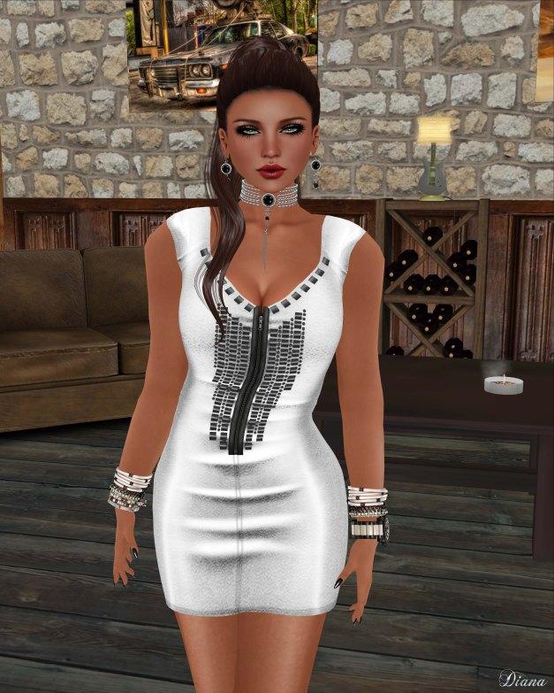 !Rebel Hope - Kerri Mesh Dress White