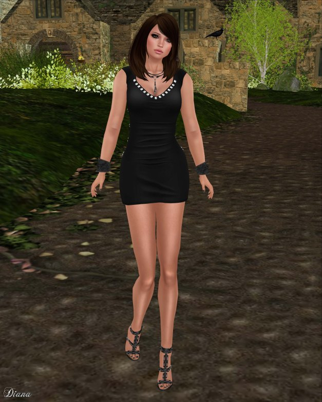 !Rebel Hope - Sydney Mesh Dress Black