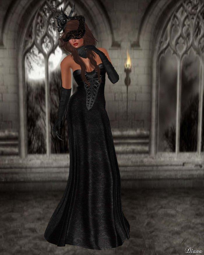 Baiastice - Dahlia dress black