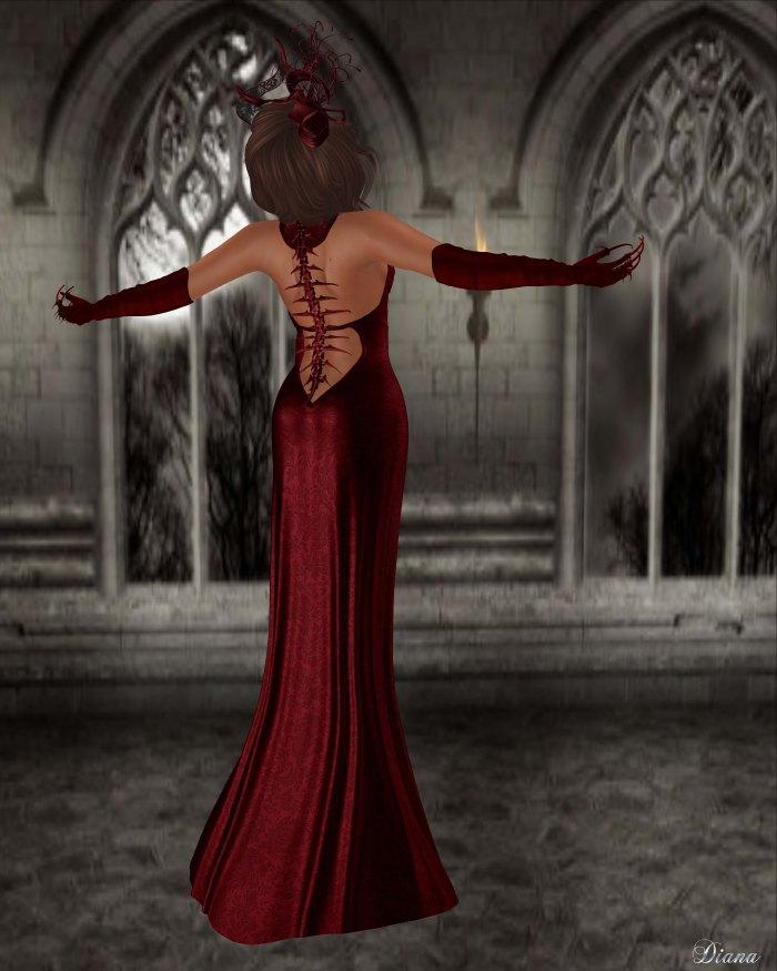 Baiastice - Dahlia dress red