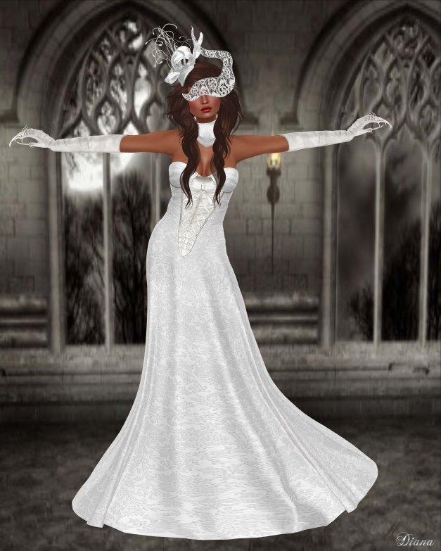 Baiastice - Dahlia dress white