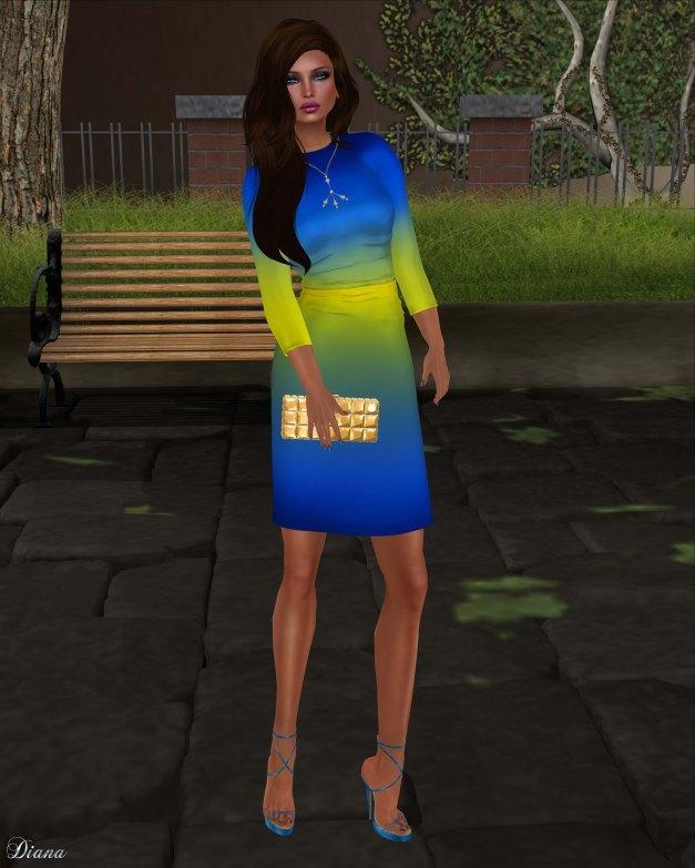 Baiastice - Iggy dress-ombre yellowblue