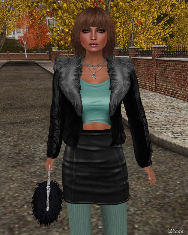 [Foxes] - Aviator Jacket - Black
