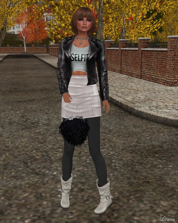 [Foxes] - Aviator Jacket - Gunmetal