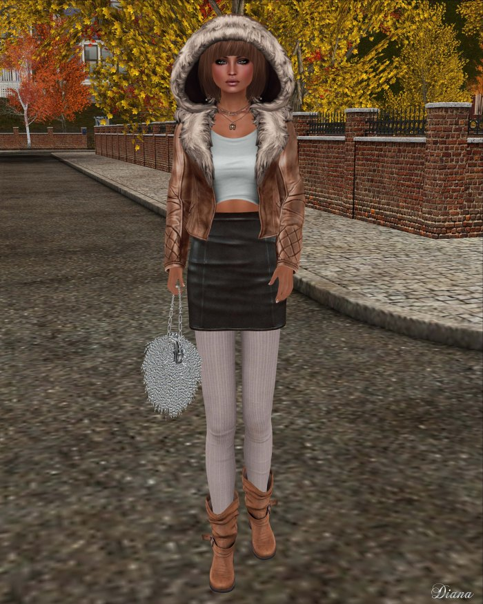 [Foxes] - Aviator Jacket - Tan