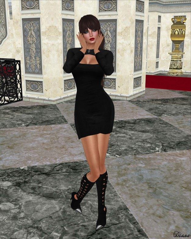 Hucci - Baudette Dress Midnight
