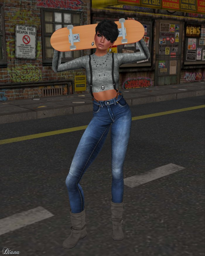 Spirit Store - Kusa Top and Skinny Jeans-1