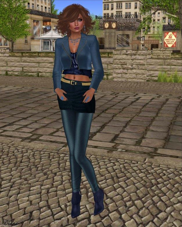 Baiastice - Kaji Jacket cobalt and Zoe combination blue