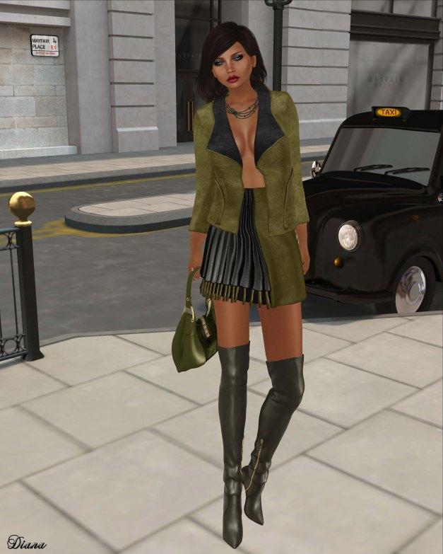 Baiastice - Misty Jacket , Lily Skirt-green