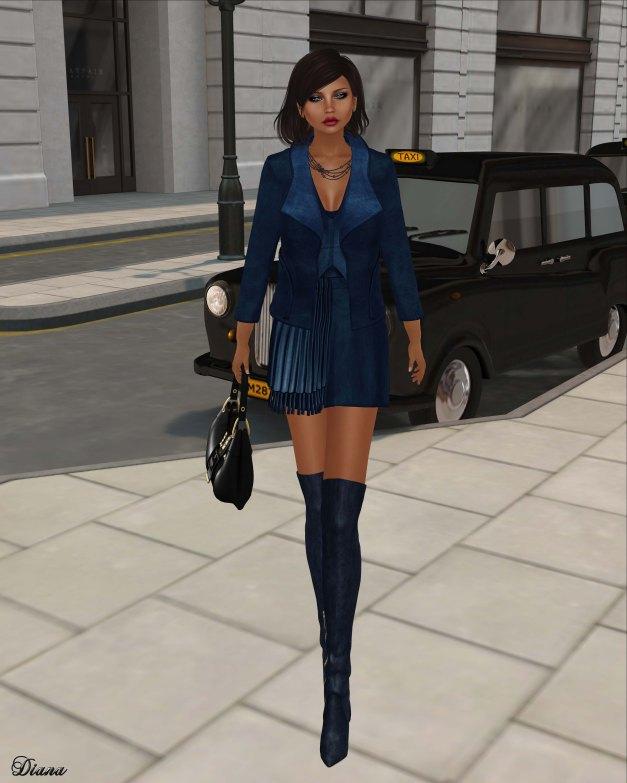 Baiastice - Misty Jacket , Marianne Vest , Lily Skirt-blue