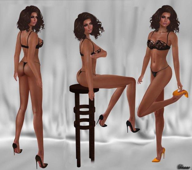 Belleza Venus Mesh Body and NX-Nardcotix Liz Suede Stiletto