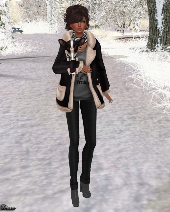 Foxes - Fleece Jacket Black-1