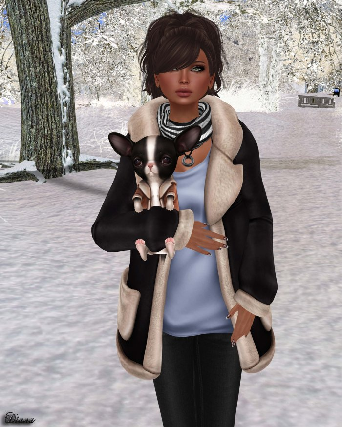 Foxes - Fleece Jacket Black-2