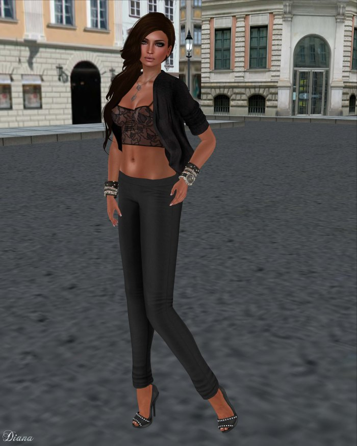 Just BECAUSE - Skinny Pants Black
