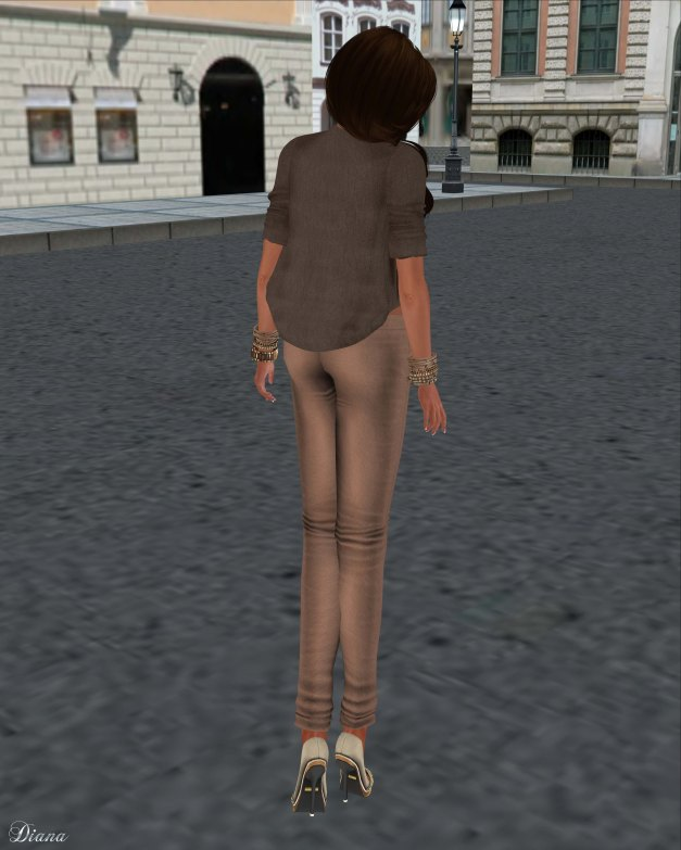 Just BECAUSE - Skinny Pants Brown