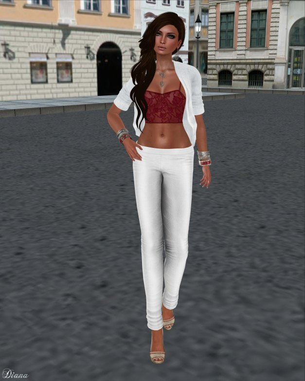 Just BECAUSE - Skinny Pants White