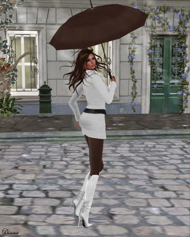 !Rebel Hope - Gina Mesh Sweater Dress White