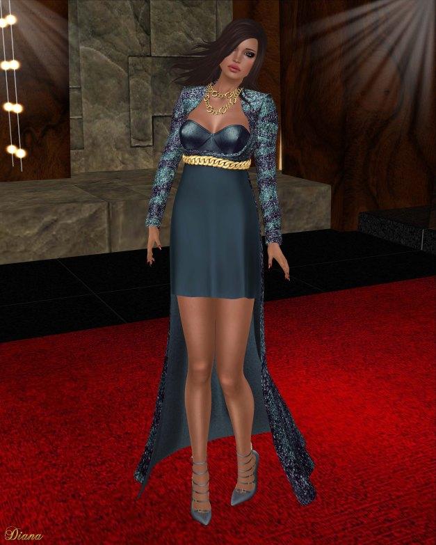 Baiastice - Mida Dress Glitter Navy