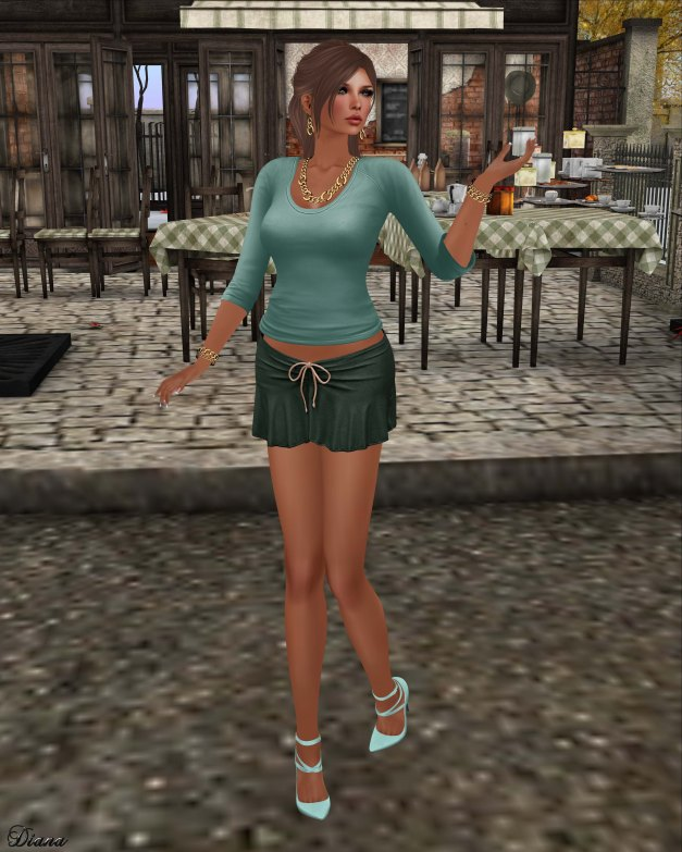 Blueberry - Kits - Casual Tee & Tied Suede Skirt-3