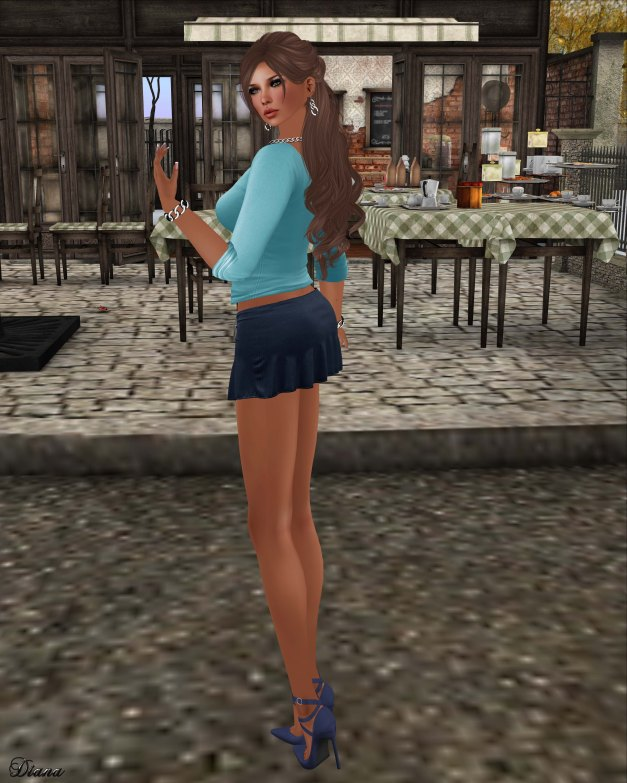 Blueberry - Kits - Casual Tee & Tied Suede Skirt-4