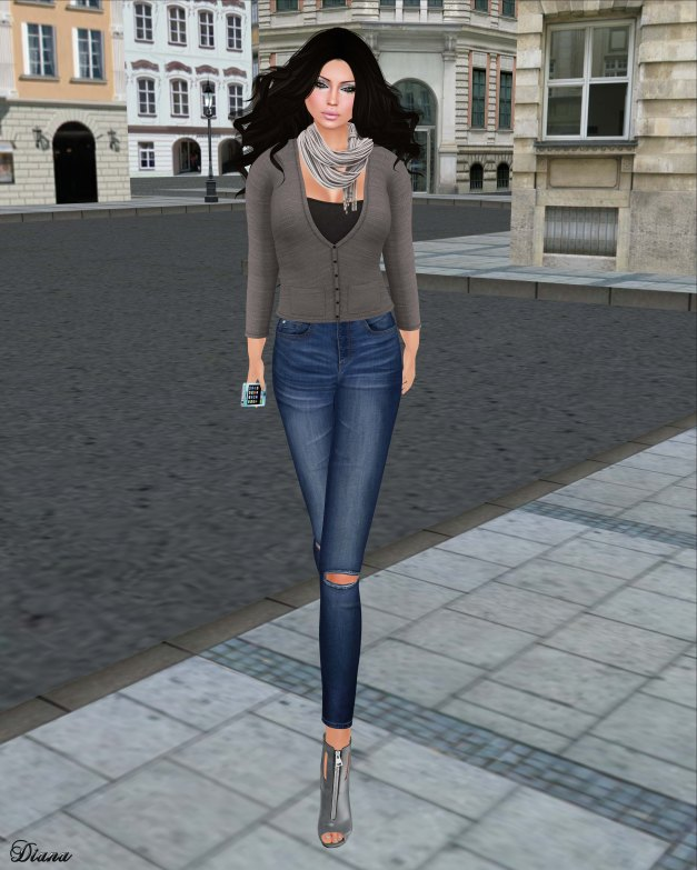 ILAYA - My Cardigan with Top Gray