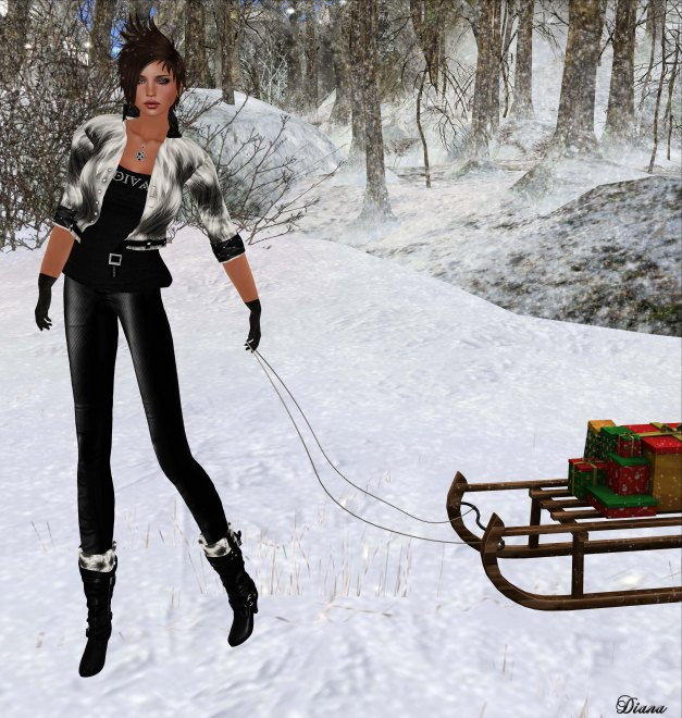 Immerschoen-BodyCult - Mesh Casual Fur Outfit Iwana-2