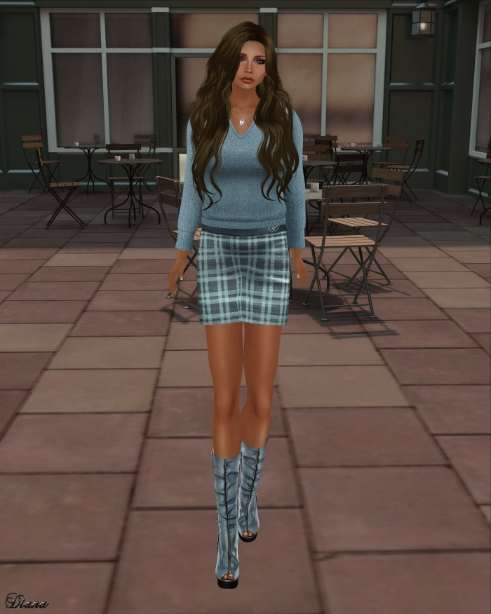 Immerschoen-BodyCult - Mesh Skirt Winter Set Gracia blue