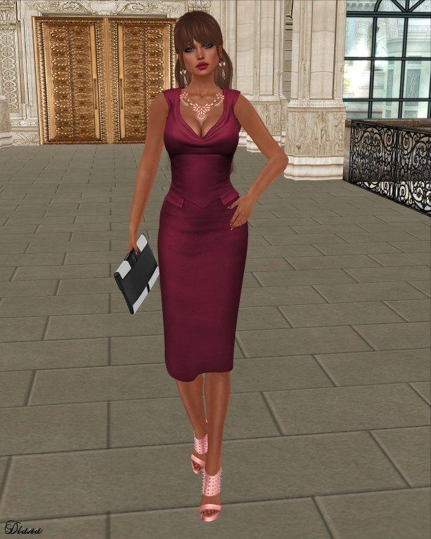 League - Yve Pencil Dress-2