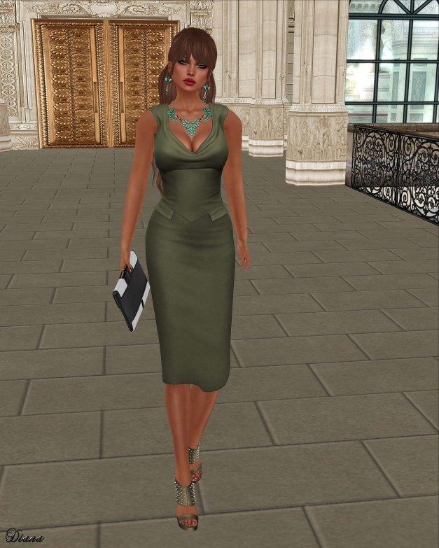 League - Yve Pencil Dress-3