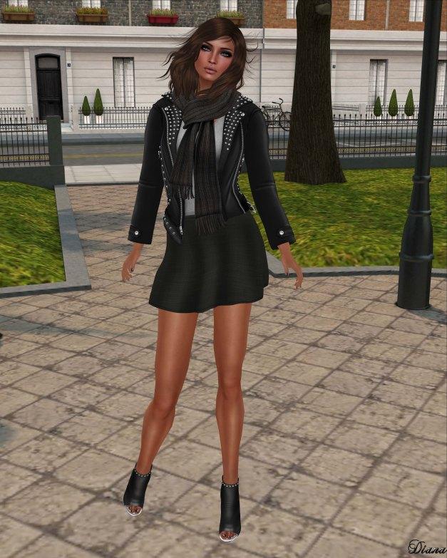 !Rebel Hope - Lauren Mesh Leather Jacket Black and Jess Mesh Skirt Black