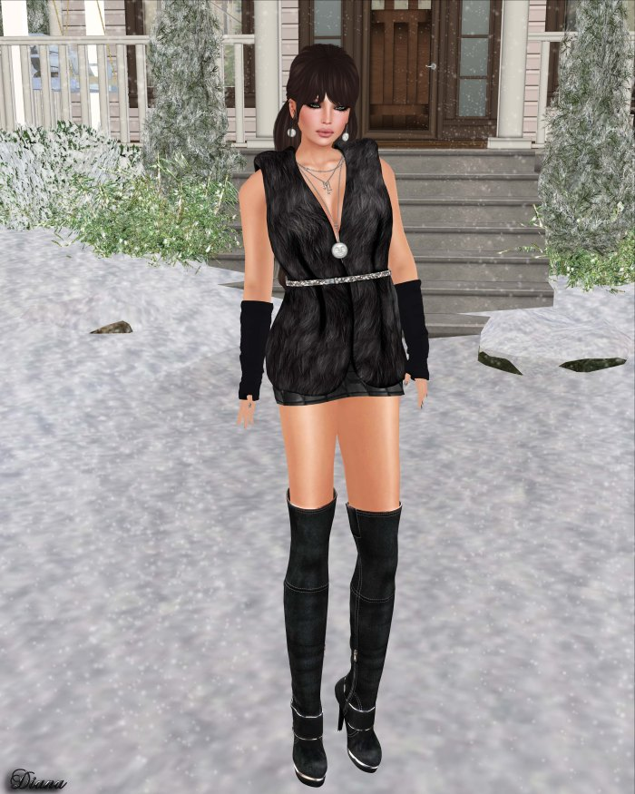Redgrave - Mesh Fur Vest Sienna-1