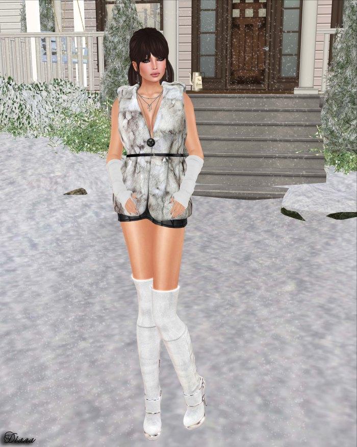 Redgrave - Mesh Fur Vest Sienna-3