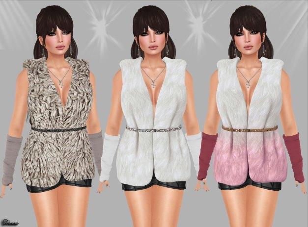 Redgrave - Mesh Fur Vest Sienna-4