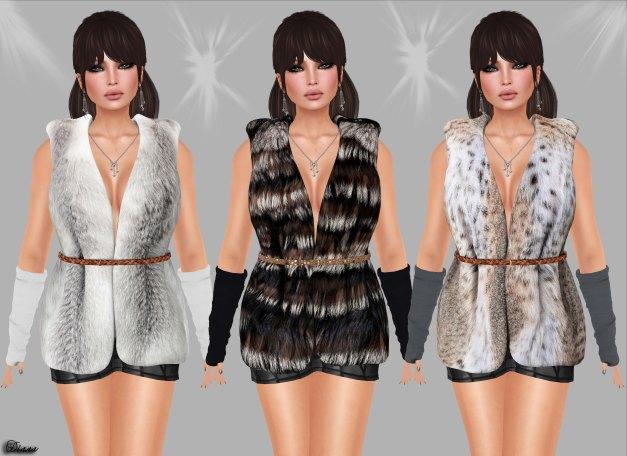Redgrave - Mesh Fur Vest Sienna-5