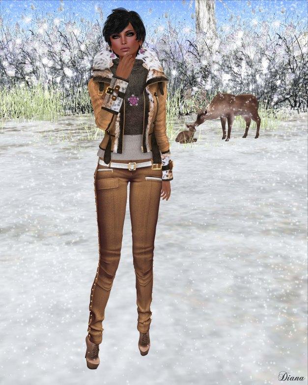 Redgrave - Mesh SuedeFur Leather Jacket FOX and Mesh Skinny crease Pants - Samantha-3