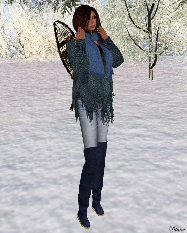 Zenith - Blue Fringe Sweater