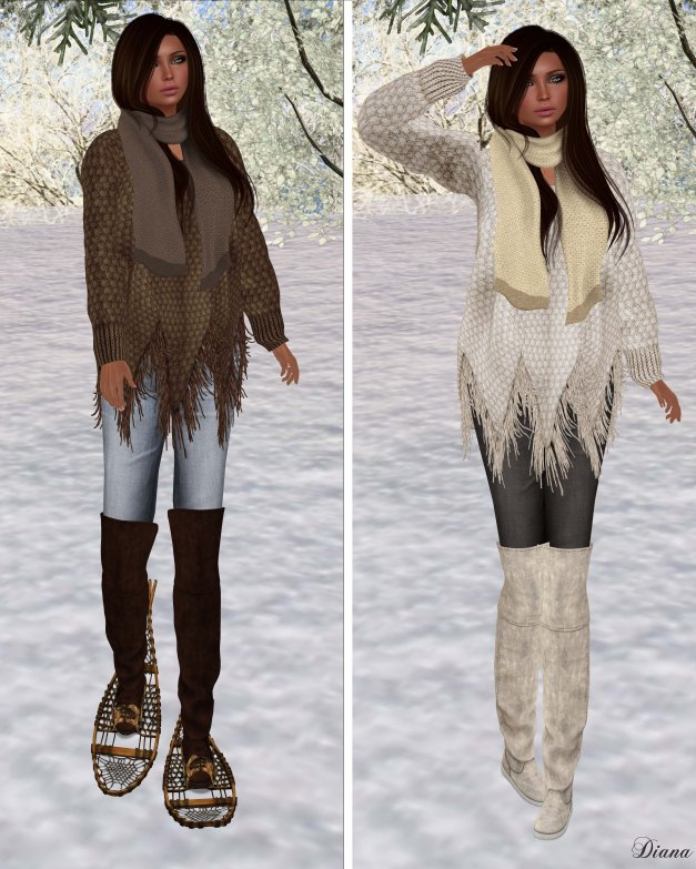 Zenith - Brown and Milk Fringe Sweater