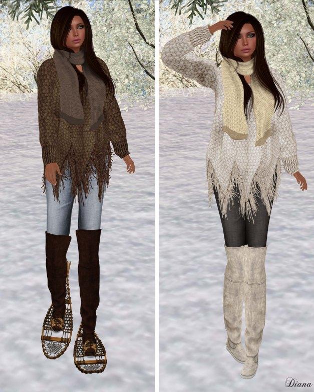 Zenith - Brown and Milk Fringe Sweater
